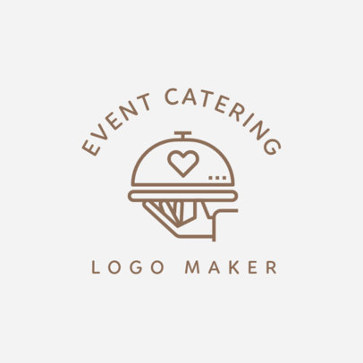 Catering Logo Maker with Wedding Icons 1243g