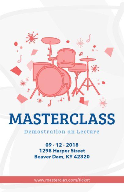 Online Flyer Maker for a Drums Class 83a