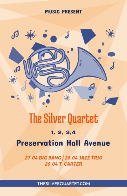 Online Flyer Maker for a Brass Band Show 83d