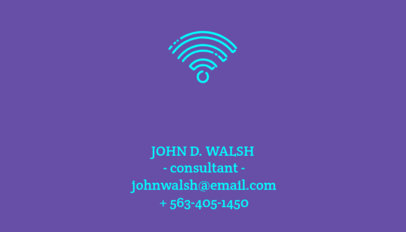 Consultant Business Card Maker 77e