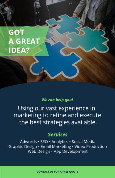 Online Flyer Maker for Corporate Businesses 100e