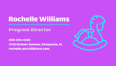 Business Card Maker for Child Care Services a336