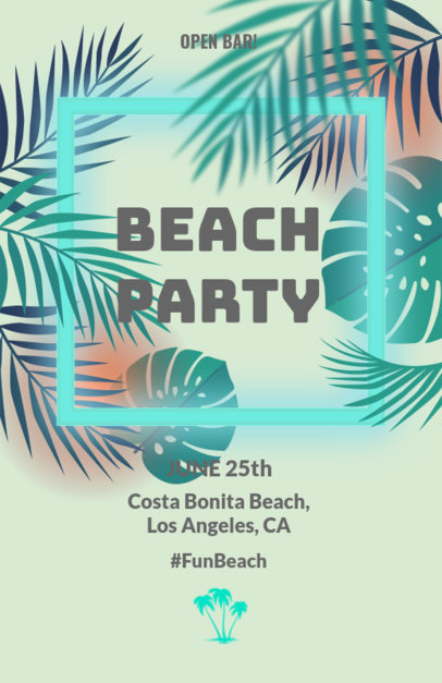 Online Flyer Maker for a Beach Party Tropical Theme 102c