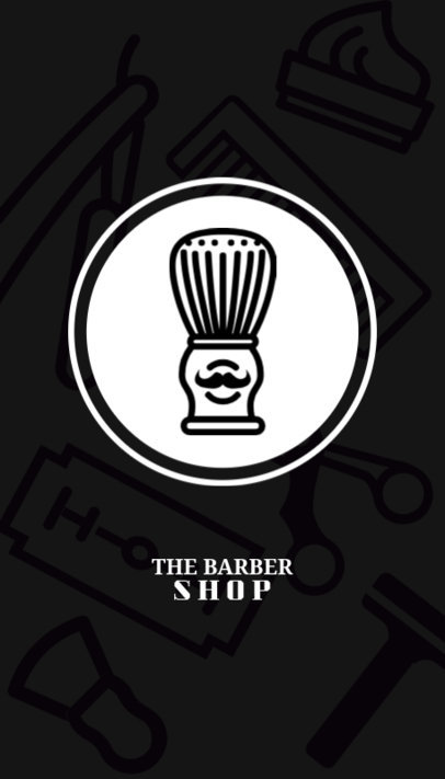Barber Shop Business Card Maker 110a
