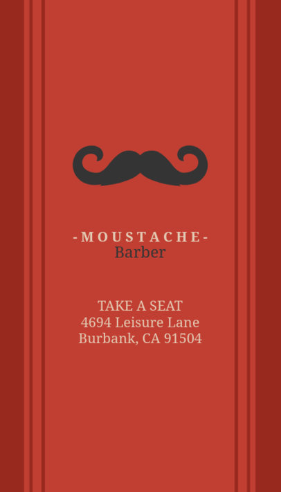 Business Card Maker for Barbers with Mustache Graphics 110d