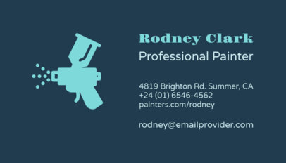 Business Card Maker with Paint Sprayer 116b
