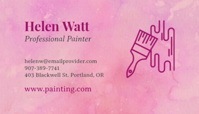 Business Card Maker with Paint Brush Graphics 116c