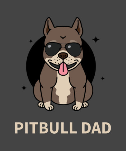 Dog T-Shirt Design Maker with Pitbull Drawing 140e
