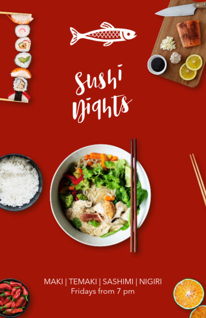 Restaurant Flyer Maker for Sushi Restaurants 127d