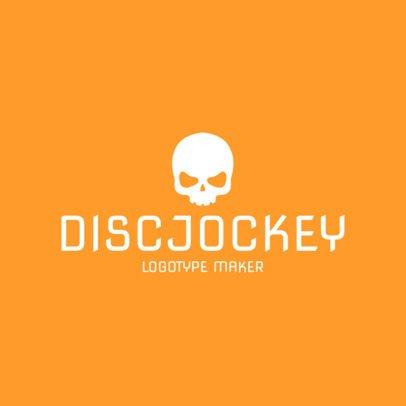 DJ Logo Maker with Skull Icon 1072a