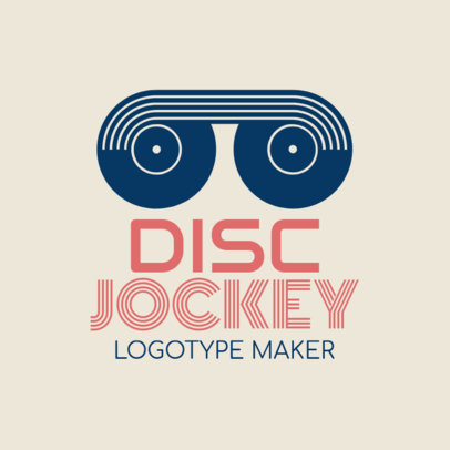DJ Logo Maker with Turntable Icon 1072d