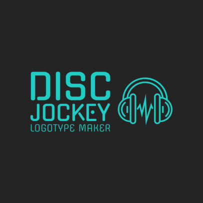 DJ Logo Maker with Headphone Icon 1072e