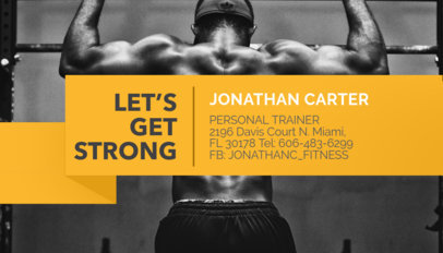 Placeit personal trainer business card maker personal trainer business card maker colourmoves