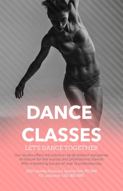 Online Flyer Maker for Dance Classes 139b