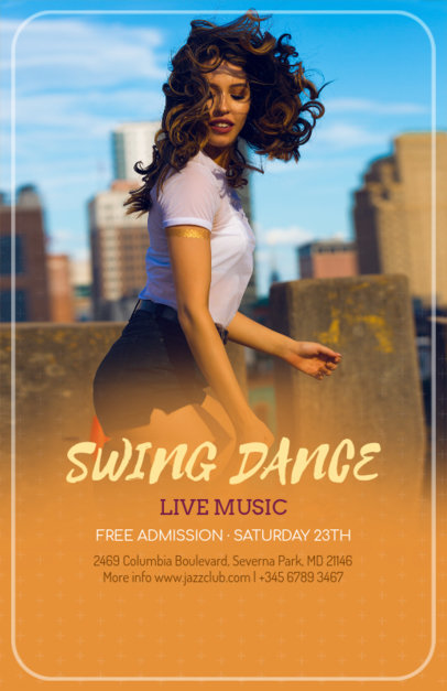 Online Flyer Template for Swing Dance Class 139d