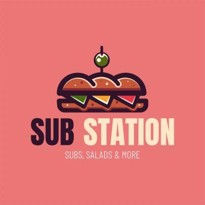 Logo Maker for Sub Restaurants 1230
