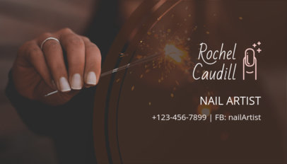 Online Business Card Maker for Nail Artists 126b