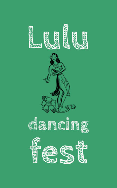 Dancing event flyer