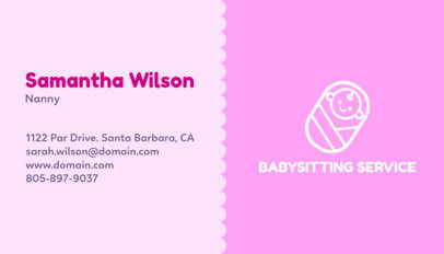 business card maker app for babysitter with teddy bear images