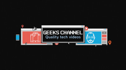 Youtube Banner Template for Tech Bloggers 51c