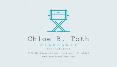 Modern Business Card Template for Filmmakers 207a