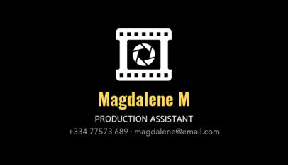 Professional Business Card Template for Film Producers 207b