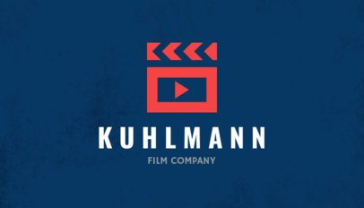 Business Card Template for Film Production Companies with Customizable Graphics 207d