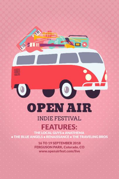 Custom Poster Maker for Open Air Festivals 60e