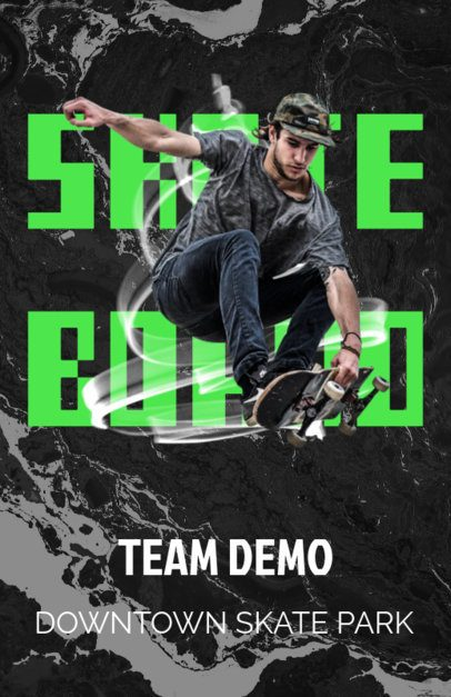 Promotional Flyer Maker for Pro Skateboarding Events 171d