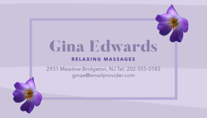 Business Card Template for Spa Resort 150c