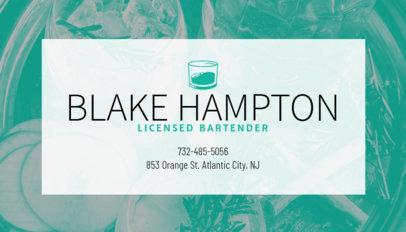 Business Card Maker for Bartenders 168e