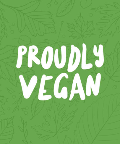 T-Shirt Design Online for Vegan Lifestyle 23a