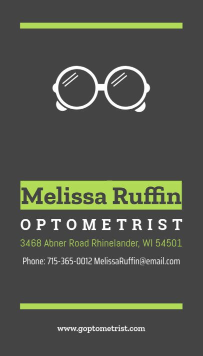 Business Card Maker for Optometrists 172a