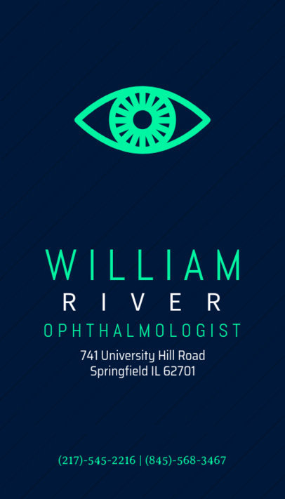 Business Card Maker for Ophthalmologists 172c