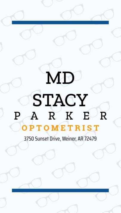 Business Card Maker for Eye Doctors 172e