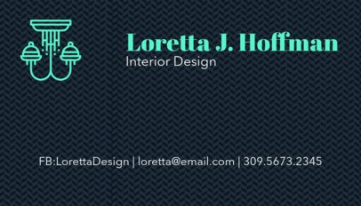 Interior Design Business Card Maker 178d