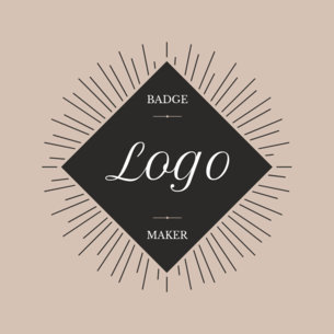 Diamond Shape Logo Maker with Retro Design 353d