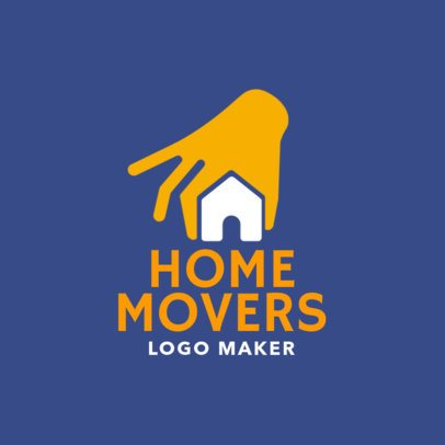 Custom Logo Maker for Movers with House Graphic 1197d