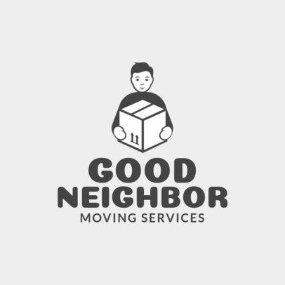Moving Service Logo Maker with Cartoon Character 1197e