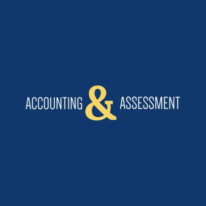 Accountant Logo Maker with Centered Letter 978c