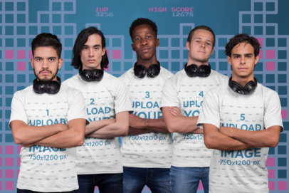 Team Shot Mockup of an Esports Group with Arms Crossed a21099