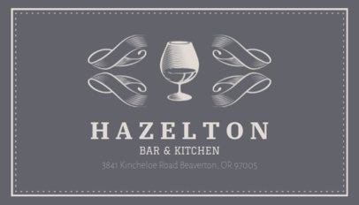 Online Business Card Maker for Wine Bars 162a