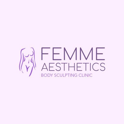 Online Logo Maker for Body Contouring with Body Outlines 1176b