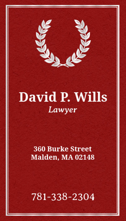 Lawyer Business Card Maker with Vertical Layout 69a