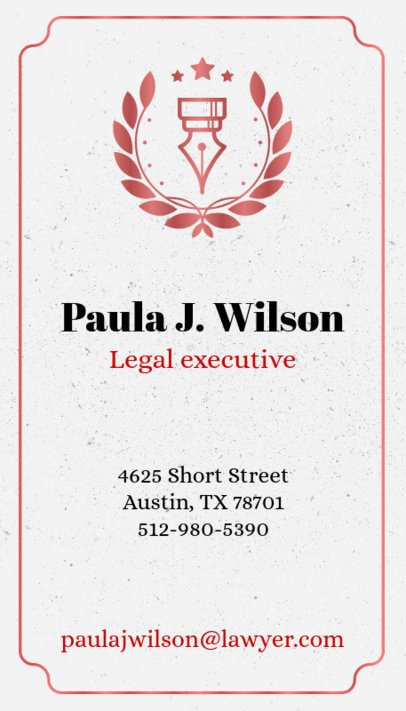 Business Card Maker for Law Firms with Vertical Layout 69b