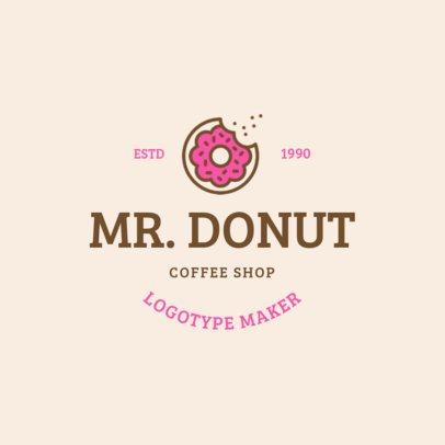 Donut Shop Logo Maker 1232b