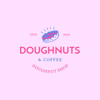 Doughnut Logo Maker with Donuts and Coffee Graphics 1232f