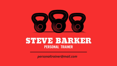 Personal Trainer Business Card a350