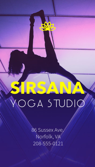 Business Card Maker for Yoga Trainer with Yoga Symbols 154a
