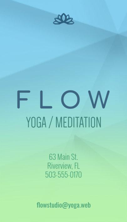 Business Card Maker for Flow Yoga 154d